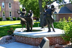 """Joy of Music,"" 5-piece bronze sculpture by George Lundeen, Hastings College (ali eminov) Tags: hastings nebraska colleges hastingscollege sculptors sculptures georgelundeen joyofmusic"