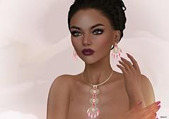 Elegance (kare Karas) Tags: woman lady femme girl girly elegance diva beauty cute pretty sensual seductive seduce mesh bento virtual avatar secondlife game fun event shapes jewelry lipstick colors hud style fashion westend chopzueyjewelry almamakeup swankevent