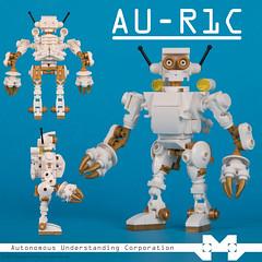 AU-R1C Datasheet (legomelego) Tags: aur1c auric lego robot au gold grey minifig minifigs minifigure minifigures space white