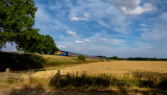 HST (Peter Leigh50) Tags: high speed train hst west langton leicestershire landscape fujifilm fuji field farmland railway railroad rail hedge fence trees sky clouds xt10