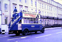 Slide 119-35 (Steve Guess) Tags: replica vintage open top topper topless bus man michelin cheltemham gloucestershire england gb uk bib9878