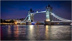 Tower Bridge by Night (Heathcliffe2) Tags: tower bridge night london landmark architecture colours lights thames river road england british britain famous tourist tourism visit walking victorian