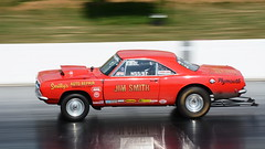 Plymouth_1334 (Fast an' Bulbous) Tags: classic american muscle car vehicle automobile fast speed power acceleration motorsport drag race track strip santa pod outdoor nikon d7100 gimp santapod dragstalgia