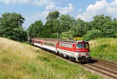Tuningová laminátka (Nikis182) Tags: 240089 nikis182 laminátka škoda electric locomotive moravský svätý ján slovensko slovakia train railway