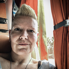 This one traveller (Melissa Maples) Tags: antalya turkey türkiye asia 土耳其 apple iphone iphonex cameraphone spring square 11 me melissa maples selfportrait woman busstation otogar shorthair blonde travel coach bus