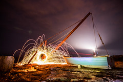 Crane  Wire wool spinning (R M Photography) Tags: d3300 portland nikon nikonfxshowcase inspiredbylove wire wool wirewool tokina tokina1116 tokina1116mm night