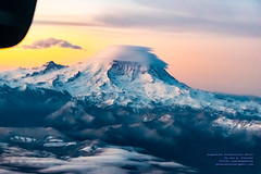 Enjoying A Vivid Sunrise, Great Clouds and Mount Rainier (AvgeekJoe) Tags: iflyalaska aerialphotograph alaskaair alaskaairlines bombardierdhc8402q bombardierdash8400 bombardierdash8q402 bombardierq400 clouds d5300 dhc8402q dslr dash8 dehavillandcanadadhc8402qdash8 horizonair mountrainier mtrainier n446qx nikon nikond5300 propliners q400 sunrise aerial aerialphoto aerialphotography aircraft airplane aviation lenticularclouds plane propliner turboprop volcano tamron18400mmf3563diiivchld tamron18400mm