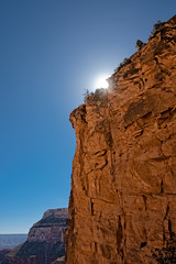 Morning Sun Glare (campmusa) Tags: bluesky grandcanyon nationalpark southrim sunglare cliffs landscapes sunlight sunshine redrock arizona us navajosandstone navajo coloradoplateau anasazi