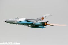6707 - Mikoyan Gurevich MiG-21MF LanceR C - Romanian Air Force (KarlADrage) Tags: 6707 mikoyangurevich mig21 mig21mf lancer lancerc romanianairforce egxw rafwaddington waddingtoninternationalairshow