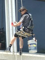 Window Cleaner Man (LarryJay99 ) Tags: workmen work workman dudes hats man men guy guys dude male studly manly handsome bulges bulging virile masculine