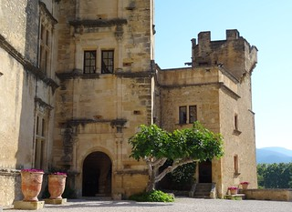 ***Cour du Château de Lourmarin