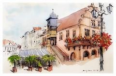 Molsheim - Alsace - France (guymoll) Tags: molsheim alsace france croquis sketch aquarelle watercolour watercolor aguarela village