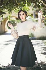 Oumaima (aminefassi) Tags: street fashion mode blackdress people beauty portrait woman outdoor canon 50mm