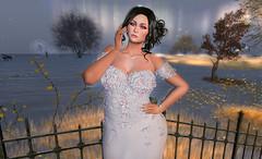 Stunning & Sophisticated! (Fye Miles (Second Life)) Tags: secondlife sl secondlifefun sexy slphotography secondlifephotography sllove brunette blueberry beautiful zoz esode cae avaway astralia weddingdress