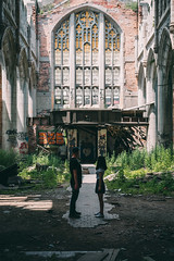 "The Magnificent - Self Portrait: ""Kafka's Castle"" (rantropolis) Tags: abandoned abandonedchurch city methodist church gary indiana selfportrait portrait sunday nikon d750 50mm"