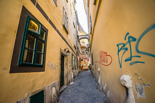 The Greeks alley in the city center of Vienna
