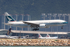 CATHAY PACIFIC B777-200 B-HNB 001 (A.S. Kevin N.V.M.M. Chung) Tags: aviation aircraft aeroplane airport airlines plane spotting airways cathaypacific cx landing arrival hkg b777200