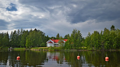 Calm after the rain... Finland, summer. (L.Lahtinen (nature photography)) Tags: finland summer afterrain calm lake rainydaysand flickrfriday sysmä house clouds päijänne järvimaisema landscape maisema nature nikond3200 landscapephotography naturephotography europe suomi taivas niceplace majutvesi