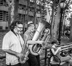 Preoccupation (Ed Newman) Tags: jazz sax tuba music brooklyn boroughhall gothamist newyork nyc performance live