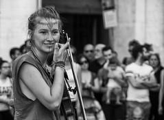 The violinist (Claudia Merighi) Tags: streetportrait streetphotography street streetphotographers streetphoto fotografiadistrada fotografiacallejera fotodistrada portraitfromthestreet portrait bwportrait bwphotography streetbw claudiamerighi ricoh pentaxk3 k3 busker noiretblanc bnbwbwbiancoenero biancoenero
