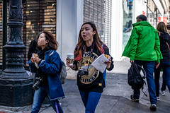 San Francisco 2018 (burnt dirt) Tags: sanfrancisco california vacation town city street road sidewalk crossing streetcar cablecar tree building store restaurant people person girl woman man couple group lovers friends family holdinghands candid documentary streetphotography turnaround portrait fujifilm xt1 color laugh smile young old asian latina white european europe korean chinese thai dress skirt denim shorts boots heels leather tights leggings yogapants shorthair longhair cellphone glasses sunglasses blonde brunette redhead tattoo pretty beautiful selfie fashion japanese coffee drink camera photographer