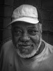 Murphy (mckenziemedia) Tags: man homeless portrait portraiture blackandwhite monochrome beautifulpeople people humanity face hat