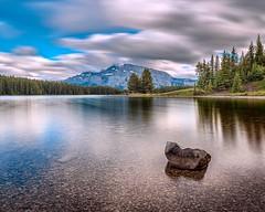 Two Jack (vaibhav.pandeys) Tags: nikond750 travel alberta canada reflection water nature lake longexposure