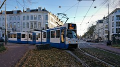 Lijn 16 (58) (Peter ( phonepics only) Eijkman) Tags: amsterdam city gvb trapkar bn tram transport trams tramtracks trolley rails rail streetcars strassenbahn detour omleiding nederland netherlands nederlandse noordholland holland