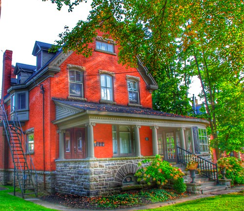 Brockville Ontario - Canada -  207 King Street East - Home of Col. James Walsh  - Indian Cliff