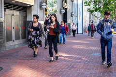 San Francisco 2018 (burnt dirt) Tags: sanfrancisco california vacation town city street road sidewalk crossing streetcar cablecar tree building store restaurant people person girl woman man couple group lovers friends family holdinghands candid documentary streetphotography turnaround portrait fujifilm xt1 color laugh smile young old asian latina white european europe korean chinese thai dress skirt denim shorts boots heels leather tights leggings yogapants shorthair longhair cellphone glasses sunglasses blonde brunette redhead tattoo pretty beautiful selfie fashion japanese hat orange floral cleavage