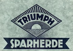 Economical Cookers. Triumph-Werke 1925 (sadiron16) Tags: triumph herde ofen wels oberösterreich cooking stoves cookers ranges