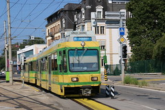2018-07-08, Neuchâtel, Evole (Fototak) Tags: tram strassenbahn littorail neuchâtel transn switzerland schlieren ligne215 501 551