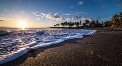 IMG_4889 (Greg Meyer MD(H)) Tags: ocean hawaii beach blacksand wave sunset