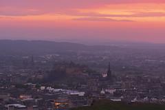 Edinburgh City Skies (JH Images.co.uk) Tags: edinburgh edinburghcastle landscape sunset pink clouds scotland