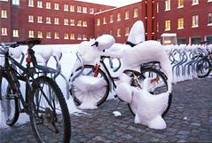 nedsnødd (kebman) Tags: vinter uitø winter tromsø uit 1999 nikkormat nikkor 50mm 135mm film norway bike snow