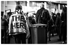 Bring them here (gro57074@bigpond.net.au) Tags: 50mmf14 21july2018 bringthemhere monochrome blackandwhite f14 artseries sigma d850 nikon sydney asylumseekers refugees protest