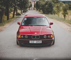 Cherry BMW e34 madetoscrape (Sergejs Demarčuks) Tags: bmw e34 5series stance stanced madetoscrape bbs bbsrs wheels german classics old canon eos 40d m42 mount