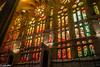 Chruch window in Sagrada Familia (patuffel) Tags: barcelona spain catalonia sagra familia window cathedral basilica leica 28mm colourful colour church gaudi antonio