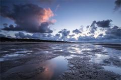 You are not alone! (karindebruin) Tags: goereeoverflakkee nederland stellendam thenetherlands zonsondergang zuidholland beach clouds reflectie reflection sand strand sunset water wolken zand