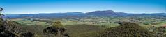 Sheffield region panorama (NettyA) Tags: australia badgersrange kimberleyslookout mountain mtroland tasmania tassie pond reeds reflection sheffield kentish