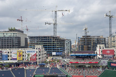 Build it and they will come (Tim Brown's Pictures) Tags: washingtondc summer weather baseballfans nationalspark baseball washingtonnationals washington dc unitedstates constructioncranes urbandevelopment newconstruction buildings