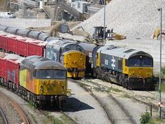 Rainbow Railways (37686) Tags: 66789 37716 56113 loading dove holes