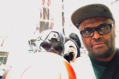 Timee Square Selfie (misterperturbed) Tags: randycaldwell avengers captainamerica disney iphoneography mickeymouse misterperturbed newyork timessquare marvel