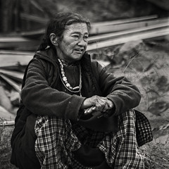 Watching (bag_lady) Tags: blackwhite ladakh india watching hemismonastery hemissummerfestival2011 ladakhi