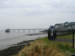 DSCN6002 (southglosguytwo) Tags: 2018 clevedon cloudy coast july northsomerset sky pier telescope