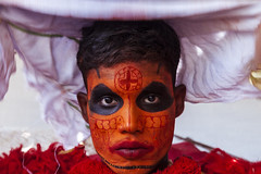 God Wakes Up from His Trance (Anoop Negi) Tags: theyyam kerala india vishnu kottayampovil dance religion trance ancient culture tradition ethnography anoopnegi photo photgraphy makeup color face paint natural