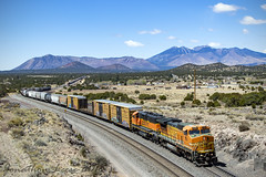 Arizona Splendor (conrail6809) Tags: ge b408w 840bw dash 8 santa fe atsf bnsf emd gp60 gp60m gp60m3 freight az arizona winona overpass bridge scenery scenic trains