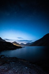 Tranquility (davidglossop) Tags: headtorch stars england cumbria threepeaks blue d850 nikkor nikon bluehour lakedistrict wastwater