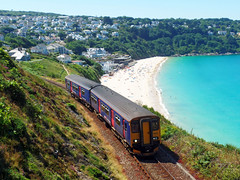 150219 Carrack Gladden, Carbis Bay (Marky7890) Tags: gwr 150219 class150 sprinter 2a28 carrackgladden carbisbay railway cornwall stivesbayline train
