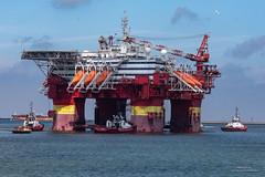 Floatel Endurance III (Peet de Rouw) Tags: offshore platform floatel floatelendurance maasvlakte departure peetderouw denachtdienst canon5dmarkiv holland portofrotterdam